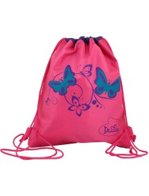 Детский Мешок для обуви De Lune S-02-розовый с птичкой