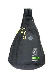 Детский школьный рюкзак UFO PEOPLE однолямка 6602 Черный