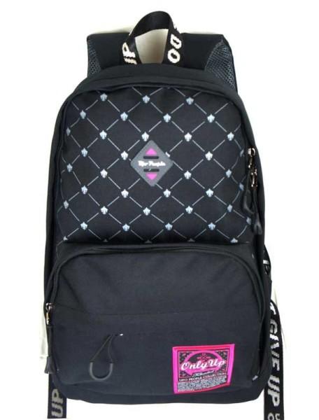 Детский школьный рюкзак UFO PEOPLE 6633 Черный