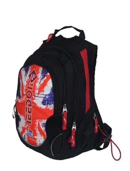Детский школьный рюкзак UFO PEOPLE 29957-2 красный