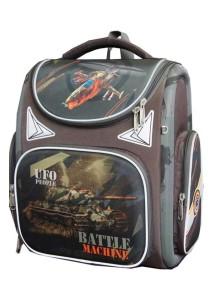 Детский школьный ранец UFO PEOPLE 5210 коричневый