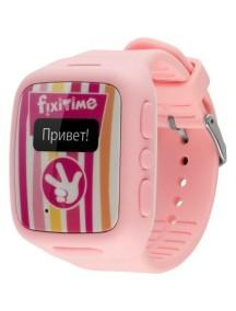 Детские часы-телефон Fixitime с трекером GPS розовые