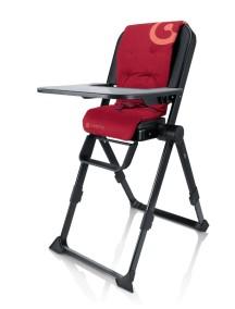 Самый компактный в мире стульчик для кормления Concord Spin (Конкорд Спин). Цвет Красный.