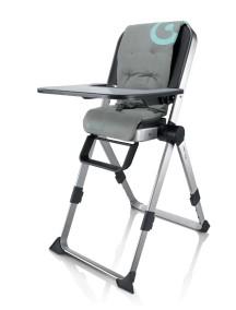Самый компактный в мире стульчик для кормления Concord Spin (Конкорд Спин). Цвет Серый.