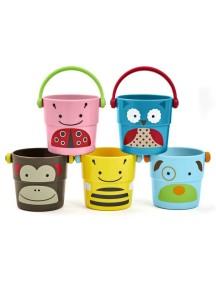 Набор формочек для ванной Skip Hop Zoo Stack & Pour Buckets Ведерки