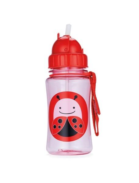 Детский поильник Skip Hop Zoo Straw Bottle - Ladybug (Божья коровка)
