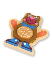 Развивающая игрушка-пазл OOPS Медвежонок
