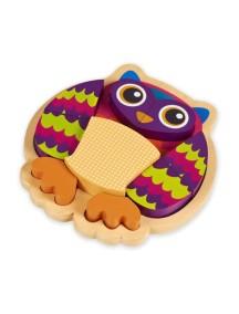 Развивающая игрушка-пазл OOPS Сова