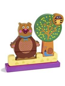 Развивающая игрушка-пазл вертикальный OOPS Лес