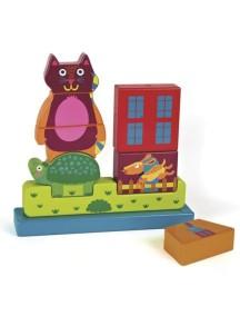 Развивающая игрушка-пазл вертикальный OOPS Город