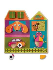 Развивающая игрушка-пазл вертикальный OOPS Построй Дом