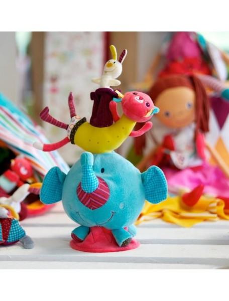 Слоненок Альберт: мягкая игрушка на баланс Lilliputiens (Бельгия)