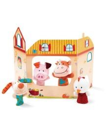 Пальчиковые игрушки: ферма Lilliputiens (Бельгия)