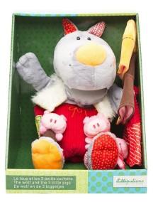 Пальчиковые игрушки: Волк и три поросенка Lilliputiens (Бельгия)