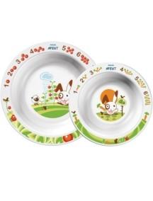 Philips AVENT Набор 2 глубоких тарелок, большая и малая (Филипс Авент)