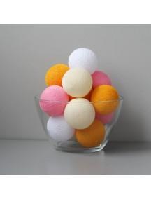 Тайская гирлянда оранжево-розовая