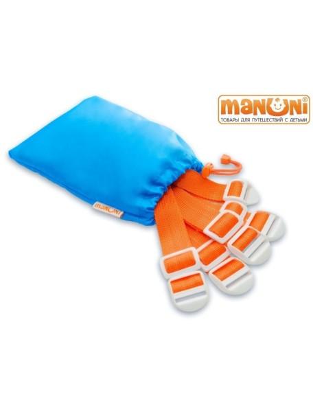 Комплект ремней к ЖД манежу для широких полок и двухъярусных кроватей