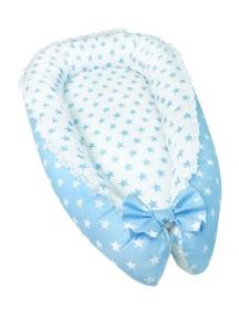 """Кокон для новорожденного """"Звёзды"""" для мальчика / Лапуляндия"""