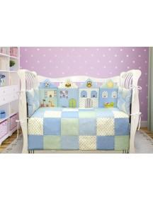 Комплект ЛДТ017 - 4 бортика, одеяло, пододеяльник, простынка на резинке, наволочка / Лапуляндия