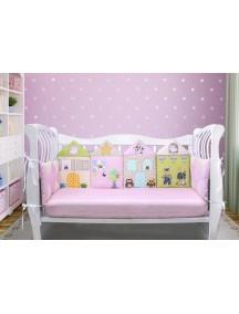 Бортики-домики в детскую кроватку ЛДР004 - 4 бортика / Лапуляндия