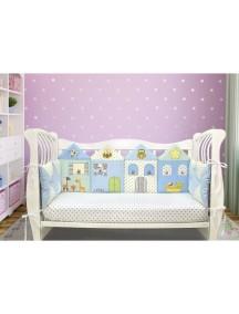 Бортики-домики в детскую кроватку ЛДТ017 - 4 бортика / Лапуляндия