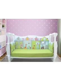 Бортики-домики в детскую кроватку ЛДР005 - 4 бортика / Лапуляндия