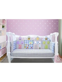 Бортики-домики в детскую кроватку ЛДР001 - 4 бортика / Лапуляндия