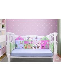 Бортики-домики в детскую кроватку ЛДР002 - 4 бортика / Лапуляндия