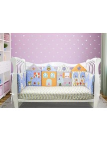 Бортики-домики в детскую кроватку ЛДР006 - 4 бортика / Лапуляндия