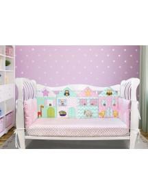 Бортики-домики в детскую кроватку ЛДП008 - 4 бортика  / Лапуляндия
