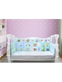 Бортики-домики в детскую кроватку ЛДП010 - 4 бортика / Лапуляндия