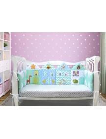 Бортики-домики в детскую кроватку ЛДП011 - 4 бортика / Лапуляндия