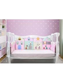 Бортики-домики в детскую кроватку ЛДТ014 - 4 бортика / Лапуляндия