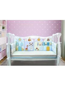 Бортики-домики в детскую кроватку ЛДК015 - 4 бортика / Лапуляндия