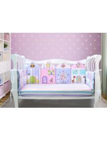 Бортики-домики в детскую кроватку ЛДК016 - 4 бортика / Лапуляндия