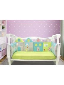 Бортики-домики в детскую кроватку ЛДР028 - 4 бортика / Лапуляндия