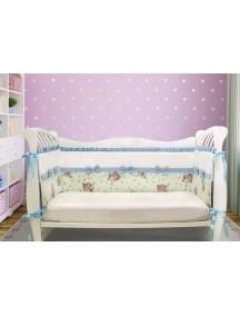Бортики-домики в детскую кроватку ЛДР029 - 4 бортика / Лапуляндия