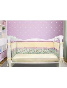 Бортики-домики в детскую кроватку ЛДР030 - 4 бортика / Лапуляндия