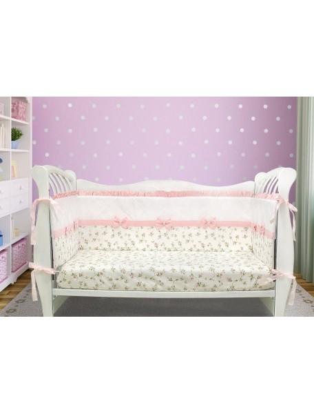 Бортики-домики в детскую кроватку ЛДР031 - 4 бортика / Лапуляндия
