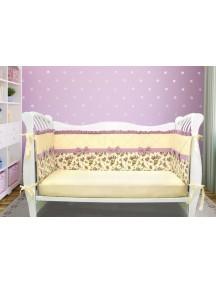 Бортики-домики в детскую кроватку ЛДР032 - 4 бортика / Лапуляндия