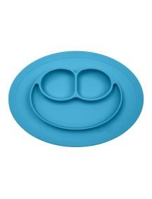 ИзиПизи веселая тарелка-мат для еды Ezpz Happy Mat Blue / голубой