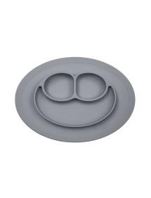 ИзиПизи веселая тарелка-мат для еды Ezpz Happy Mat Grey / серый