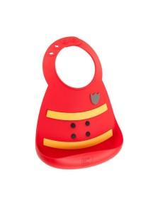 Детский нагрудник Baby Bib - Fireman / Пожарный , красный