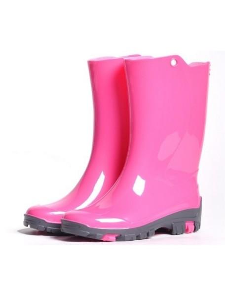 Детские резиновые сапоги Nordman Kids, розовые  (с флисовым утеплителем)