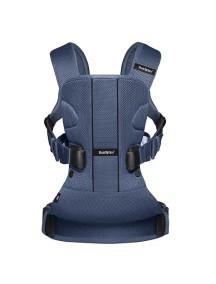 """BabyBjorn """"One Air"""" Многофункциональный рюкзак-кенгуру для ношения ребёнка на груди и на спине, Тёмно-синий"""