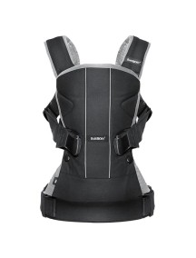 """BabyBjorn """"One Cotton"""" Многофункциональный рюкзак-кенгуру для ношения ребёнка на груди и на спине, Черно-серый"""