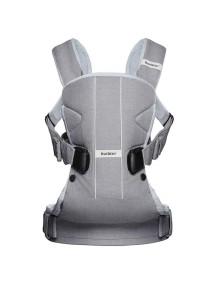 """BabyBjorn """"One Cotton"""" Многофункциональный рюкзак-кенгуру для ношения ребёнка на груди и на спине, Серый"""