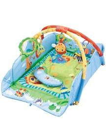 """Fitch Baby """"3 Ways To Play"""" Развивающий игровой коврик для новорожденного , Голубой"""