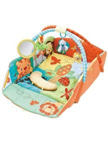 """Fitch Baby """"3 Ways To Play"""" Развивающий игровой коврик для новорожденного , Оранжевый"""
