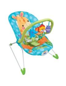 """Fitch Baby """"Animal Paradise"""" Детское кресло-качалка с игрушками и вибрацией, Голубое"""